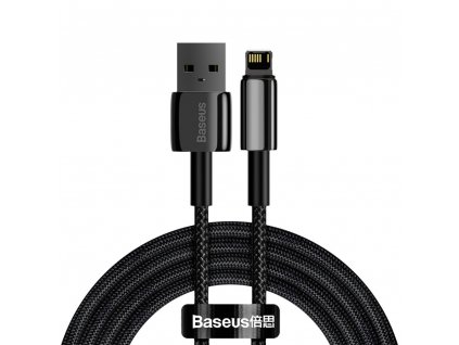 Baseus Tungsten USB kabel - iPhone Lightning / 2m / 2,4A black CALWJ-A01