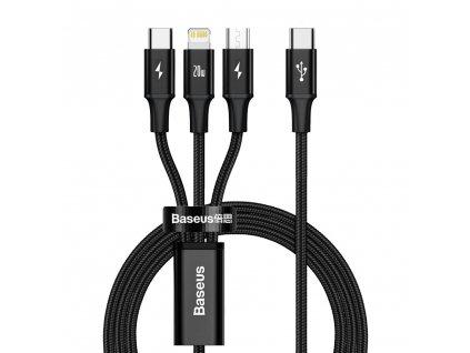 Baseus CAMLT-SC01 USB-C PD  kabel 3v1 Micro USB / USB-C / Apple Lightning 1,5m / 20W black