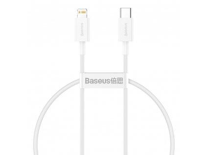 Baseus Superior CATLYS-A02 kabel USB-C PD / Apple Lightning 20W / 1m / bílý