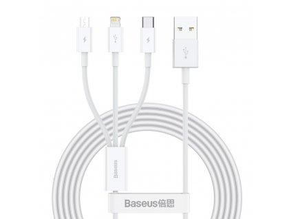 Baseus Superior CAMLTYS-02 USB kabel 3v1 Micro USB / USB-C / Apple Lightning 1,5m / 3,5A