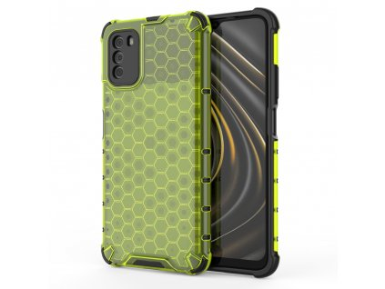 HoneyComb Armor Case odolné pouzdro pro Xiaomi RedMi 9T / POCO M3 zelené