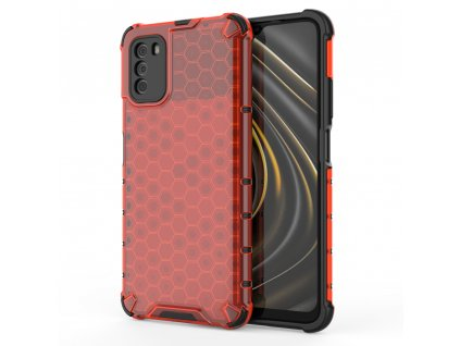 HoneyComb Armor Case odolné pouzdro pro Xiaomi RedMi 9T / POCO M3 červené