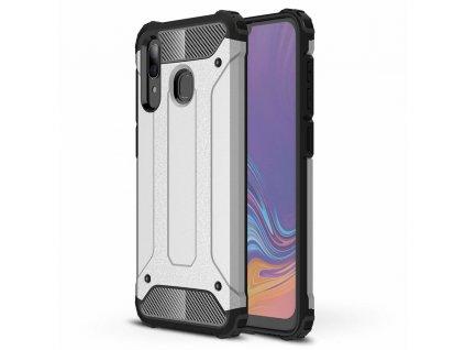 Hybrid Armor Case odolné pouzdro pro Samsung Galaxy A11 / M11 stříbrné