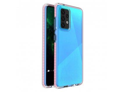 Spring Case TPU pouzdro pro Samsung Galaxy A52 4G / A52 5G clear / light pink