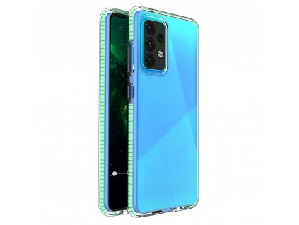 Spring Case TPU pouzdro pro Samsung Galaxy A52 4G / A52 5G clear / mint
