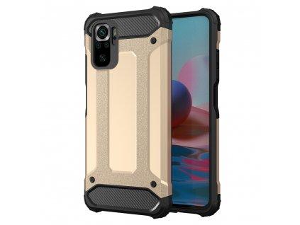 Hybrid Armor Case odolné pouzdro pro Xiaomi RedMi NOTE 10 PRO zlaté