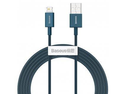 Baseus Superior CALYS-C03 USB kabel - iPhone Lightning / 2m / 2,4A modrý
