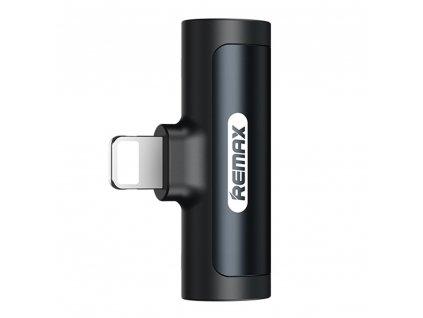 REMAX LT RL-LA04i adaptér Apple Lightning / 2x Apple Lightning / rozdvojení - černá