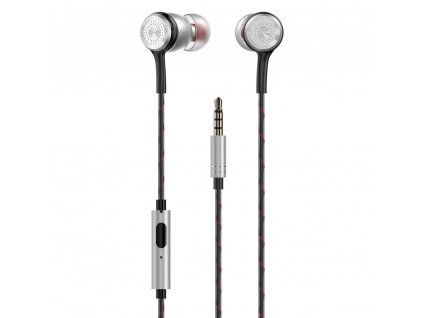 Dudao X12 PRO handsfree sluchátka iOS / Android - univerzální 3,5mm jack stříbrné