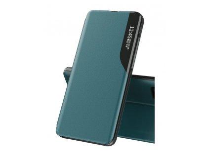 Pouzdro ECO Leather View pro Samsung G990 Galaxy S21 FE (5G) zelené