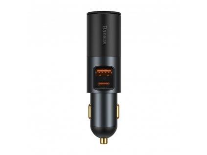 Baseus CCBT-C0G Share Together nabíječka do auta USB / USB-C PD / 120W / 3A / QC šedá