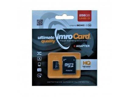 IMRO Micro SDXC10 / 256GB / SD adaptér / UHS-3