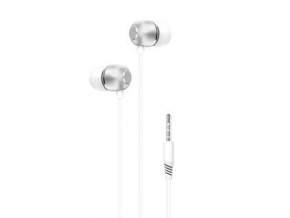 XO EP26 handsfree sluchátka s kabelem 3,5mm jack - bílé