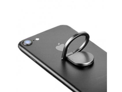 Ring Watter Drop držák telefonu na prst stříbrný
