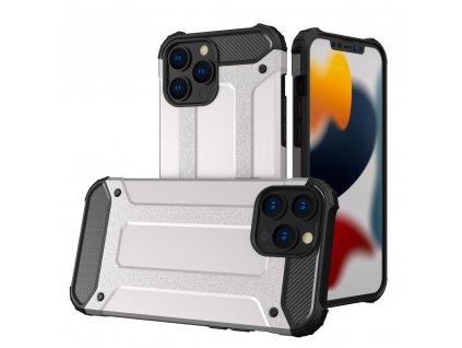 """Hybrid Armor Case odolné pouzdro pro iPhone 13 PRO (6,1"""") stříbrné"""