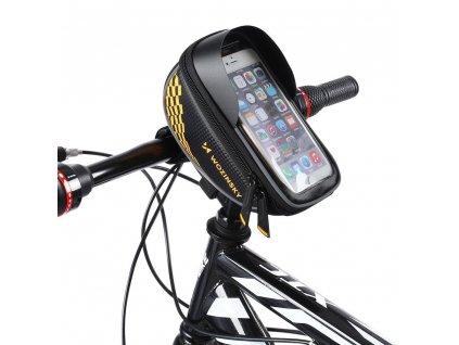 Wozinsky WBB18BK taška na kolo / řídítka / pouzdro na telefon černá