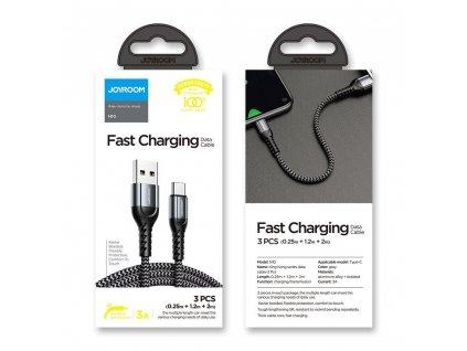 Joyroom N10 KingKong 3x USB kabel pro USB-C 0,25m / 1,2m / 2m / 3A
