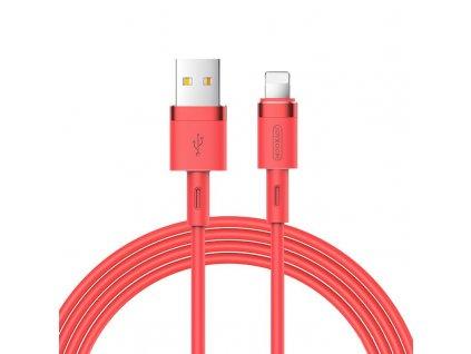 Joyroom S-1224N2 USB kabel - iPhone Lightning / 1,2m / 2,4A červený