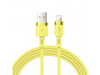 Joyroom S-1224N2 USB kabel - iPhone Lightning / 1,2m / 2,4A žlutý
