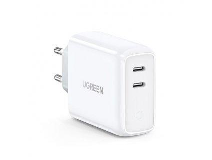 UGreen DC199 nabíječka s výstupem 2x USB-C PD / 36W / QC 4.0 / SCP / AFC / FCP bílá