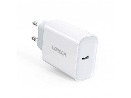 UGreen nabíječka s výstupem USB-C PD / 30W / QC 4.0 bílá