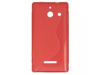 S Case pouzdro Huawei Ascend W1 red / červené