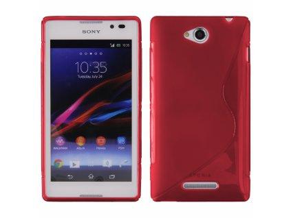 S Case pouzdro Sony Xperia C, C2305 red