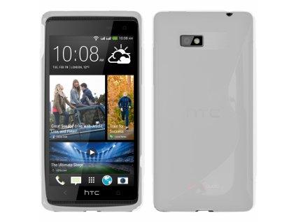 S Case pouzdro HTC Desire 600 transparent white