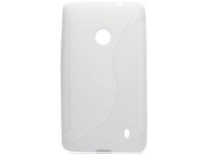 S Case pouzdro Nokia 525 Lumia white / bílé