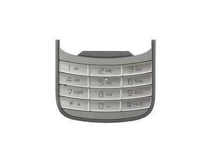 SonyEricsson W20i Zylo numerická klávesnice silver / stříbrná