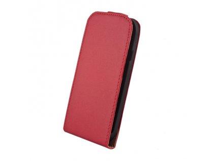 SLIGO Elegance vyklápěcí pouzdro Huawei Ascend G700 červené
