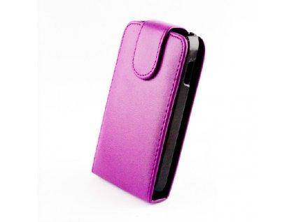 SLIGO Classic vyklápěcí pouzdro HTC Desire 300 fialové