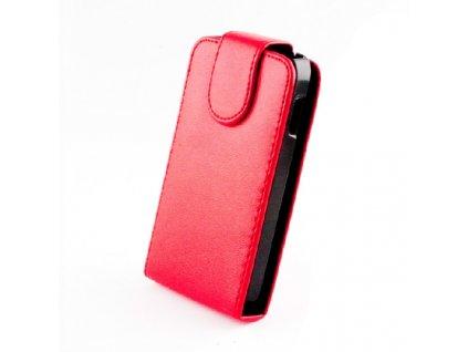 SLIGO Classic vyklápěcí pouzdro HTC Desire 300 červené