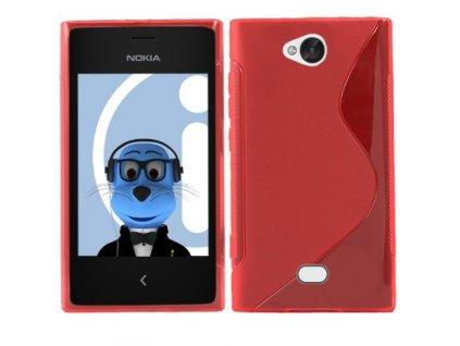S Case pouzdro Nokia 503 Lumia red / červené