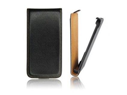 SLIGO Slim vyklápěcí pouzdro HTC One Mini M4 černé