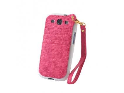 Pocket Case pouzdro Samsung i9300 Galaxy S3 white / pink