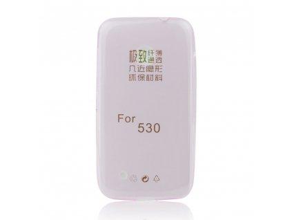 Pouzdro FITTY Ultra Tenké 0,3mm Nokia 530 Lumia růžové