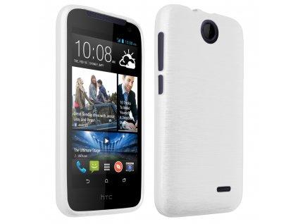 Pouzdro JELLY Case Metalic HTC Desire 310 bílé