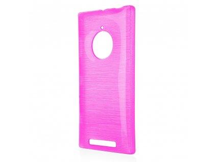 Pouzdro JELLY Case Metalic Nokia 830 Lumia růžové