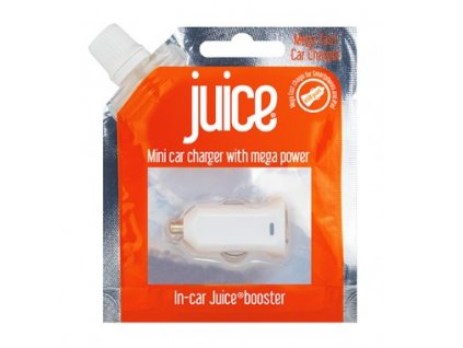 Juice univerzální extra rychlá nabíječka do auta s výstupem USB 2,1A bílá