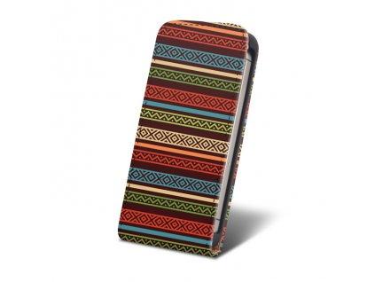 SLIGO Slim vyklápěcí pouzdro HTC Desire 510 Strips edition