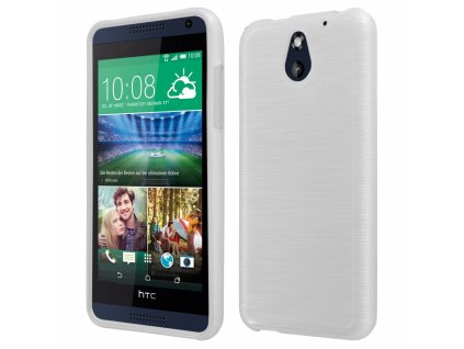 Pouzdro JELLY Case Metalic HTC Desire 610 bílé
