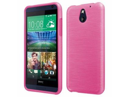 Pouzdro JELLY Case Metalic HTC Desire 610 růžové