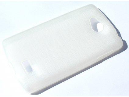 Pouzdro JELLY Case Metalic LG F60 (D390N) bílé