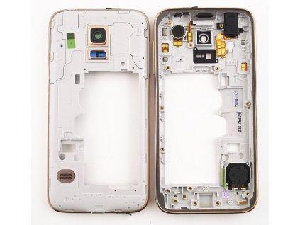 SAMSUNG G800 Galaxy S5 Mini střední kryt gold / zlatý