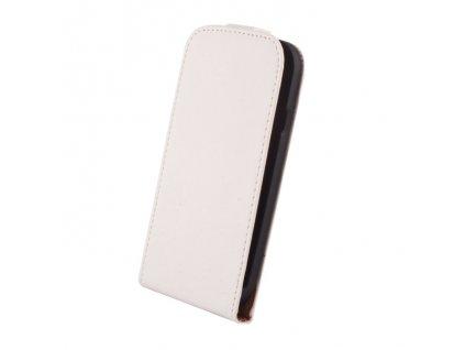 SLIGO Elegance vyklápěcí pouzdro HTC Desire 320 bílé