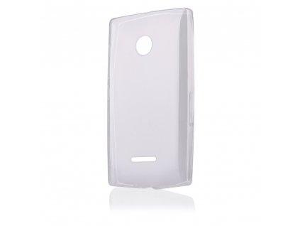 Pouzdro FITTY Ultra Tenké 0,3mm Microsoft Lumia 435 transparentní