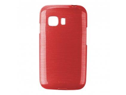Pouzdro JELLY Case Metalic Samsung G130 Galaxy Young2 červené