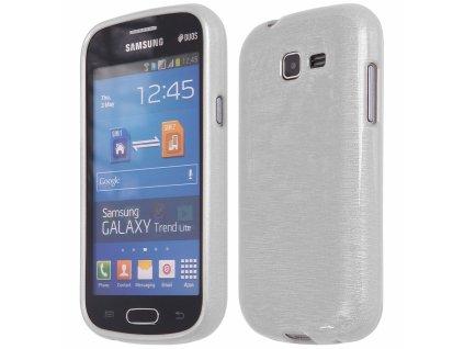 Pouzdro JELLY Case Metalic Samsung S7390 Galaxy Trend Lite bílé