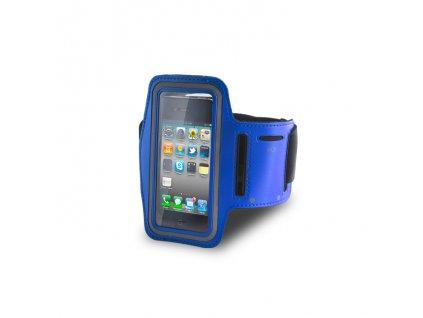 Armband univerzální bicepsové pouzdro na běhání 70 x 135mm - modré